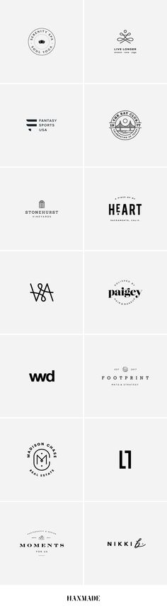 Logo Showcase | Hanmade | #logo #design #graphicdesign