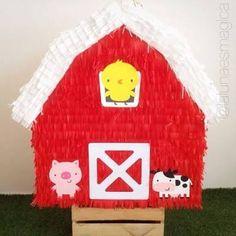 Resultado de imagen para piñatas granja First Birthday Photos, 3rd Birthday Parties, 2nd Birthday, Farm Party, Farm Theme, Mickey Minnie Mouse, Animal Party, First Birthdays, Diy And Crafts