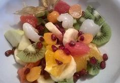 Exotický ovocný salát Kiwi, Fruit Salad, Grapefruit, Mango, Food, Pineapple, Manga, Fruit Salads, Essen