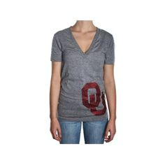 OU shirt game day deep v-neck