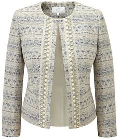 Embellished Buttonless Jacket