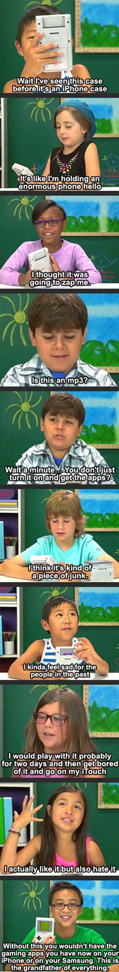 Kids are given Game Boys and say this...