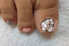 Cute Toe Nails, Cute Toes, Summer Toe Nails, Pedicures, Manicure, Nail Designs, Makeup, Designed Nails, Work Nails