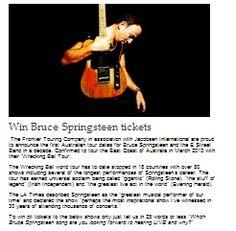 Win Bruce Springsteen Tickets Bruce Springsteen Tickets, Win Tickets, Rock Concert, Have Fun, Musica