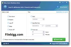 Free Download Software Wise Auto Shutdown 1.51 - filebigg.com