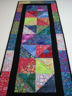Quilted Table Runner , Kaffe Fassett Table Runner , Multi-Color by VillageQuilts on Etsy