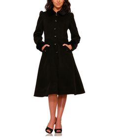 Another great find on #zulily! Black Colette Coat - Plus Too #zulilyfinds