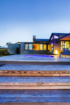 Our modern established farm house boasts solid concrete structures that arrest the visitor on arrival providing framed views of the hills in the background. Modern Pools, Concrete Structure, Open Plan Living, Pool Designs, Ponds, Water Features, Outdoor Spaces, Modern Farmhouse, South Africa