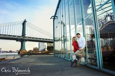 NYC Engagement Session at Jane's Carousel in Dumbo, Brooklyn NY