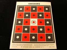 Vintage Checkers Target by Crosman Arms by BonesInTheAttic on Etsy https://www.etsy.com/listing/121944474/vintage-checkers-target-by-crosman-arms