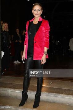 Olivia Palermo attends the Paul Joe show as part of the Paris Fashion Week Womenswear Spring/Summer 2018 on October 3 2017 in Paris France