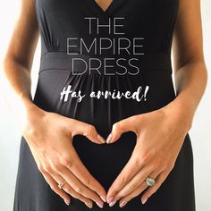 Our gorgeous Maternity Empire Dress has arrived! Available on our website NOW! Get 10% off on your first order!