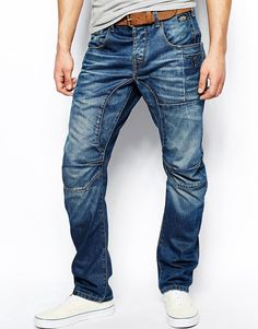 8ccc932df Jack   Jones Anti Fit Jeans With Heavy Wash at asos.com