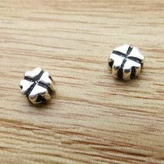 925 Sterling Silver Thai Silver Four Leaf Clover Charm Spacer Beads DIY Findings LFJ53