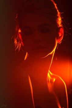 Ann by Mary Butko Colour Gel Photography, Shadow Photography, Night Photography, Creative Photography, Portrait Photography, Kreative Portraits, Cinematic Photography, Portrait Lighting, Red Aesthetic