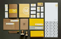 corporate identity package. great use of yellow.