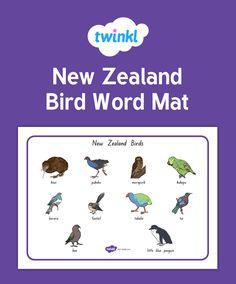 New Zealand Bird Word Mat