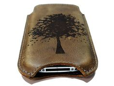 Leather Iphone case. Etsy. $15. Wow.