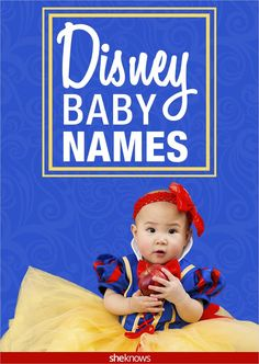 Adorable disney baby names from all your favorite movies long boy names, baby girl names Baby Names 2018, Disney Baby Names, Disney Babys, Disney Girls, Long Boy Names, Baby Names Short, Baby Girl Names, Kid Names, Baby Names Scottish