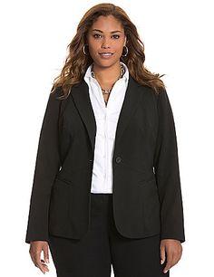 New LANE BRYANT Soft Pink THE BRYANT BLAZER Ponte Stretch Jacket Plus Size 16W