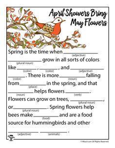 Spring Mad Libs - Woo! Jr. Kids Activities