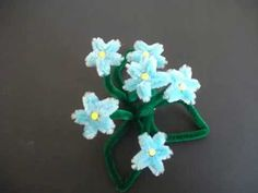 How to make pipe cleaner flowers-Craft for kids - YouTube