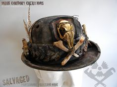 Post Apocalyptic hat - costume. SALVAGED ware by Mark Cordory Creations. www.markcordory.com