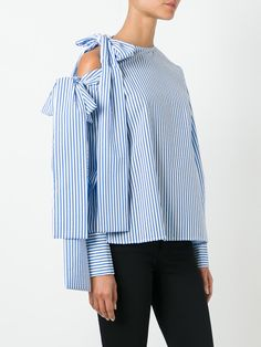 MSGM loose-fit striped blouse
