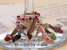 WINE glass CHARMS How cute is that?