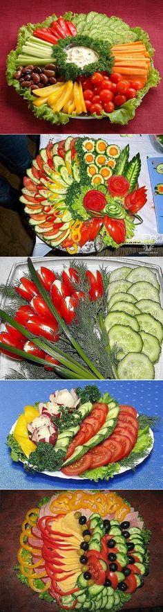 нарезка  и  украшения  блюд