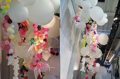 With Katriina Lankinen Ballon Arch, Balloon Installation, Spicy, Balloons, Interiors, Stylish, Heart, Birthday, Ideas