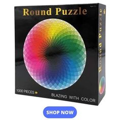 Moruska 1000 Piece Puzzles for Adults Teen - Gradient Color Rainbow Large Round Jigsaw Puzzle Difficult and Challenge - Toys Flirts 2000 Piece Puzzle, Puzzle Pieces, 1000 Piece Jigsaw Puzzles, Rainbow Palette, Rainbow Colors, Vivid Colors, Diy Gifts, Best Gifts, Handmade Gifts