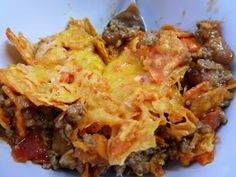 Made is Mexican casserole the other day everyone loved it. I used the  nacho soup that Campbell's has 1 can, 1.5# ground beef, 1taco seasoning pouch, green onions, 1 can spicy black beans, about 1cup milk, 2 tortillas torn in to bit size pieces, half bag crushed Doritos.  Mix together with half cup shredded cheese. Place into casserole dish and top with shredded cheese bake at 350* for 15 minutes. If you want top with sour cream and eat alone, as a dip with chips, or put into tortilla and as…