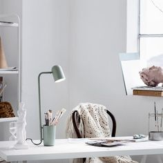 Buy the green Buddy Table Lamp by Mads Sætter-Lassen and more online today at The Conran Shop, the home of classic and contemporary design Luminaire Design, Lamp Design, Lighting Design, Task Lighting, Bureau Design, Contemporary Furniture, Contemporary Design, Red Table Lamp, Berlin Design