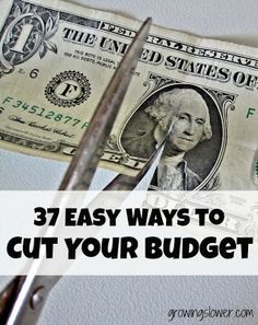 37 Easy Ways to Save Money & Cut Your Budget at GrowingSlower.