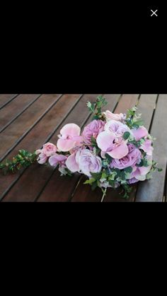 musk pink orchids, pinkish lavender garden roses and lilac garden roses