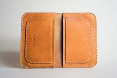 Bridle Wallet - iPhone / iPod Case - Tan Leather