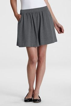 Women's Knit Gathered Skort from Lands' End || Get 4% cash back here - http://www.studentrate.com/fashion/fashion.aspx
