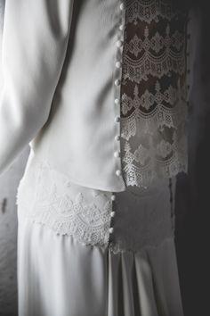 Colección Melancolie. Vestido de novia. Wedding dress. Detalles.