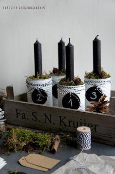 Fräulein Zuckerbäckerin: Advent Advent - DIY Adventskranz
