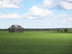 Sunny summer day on Finnish plain by evasojahannele