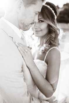 Classic black and white bride + groom portrait: http://www.stylemepretty.com/destination-weddings/2015/11/05/dreamy-peach-destination-wedding-at-hvar-in-croatia/ | Photography: Kristina Malmqvist- http://www.kristinamalmqvist.com/
