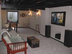 Lovely Partially Finished Basement Ideas