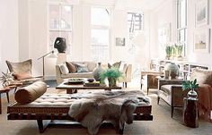 Brad Ford {eclectic modern living room} by recent settlers, via Flickr
