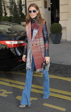 Olivia Palermo Paris patchwork