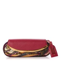 ec912746453c LOUIS VUITTON Monogram Sequins Savage Cub Clutch Rose 269761 Tiger Stripes