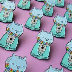 Kitty Gumball Machine pin
