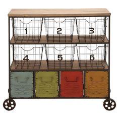 A Colorful Bar/Storage Cart