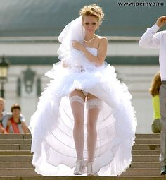 For Brides stocking tops exposed Amazingly!