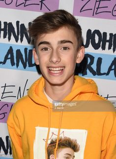 Johnny Orlando poses during a meet and greet on the 'Day & NIght' tour at Mr Smalls on October 28, 2017 in Millvale, Pennsylvania.